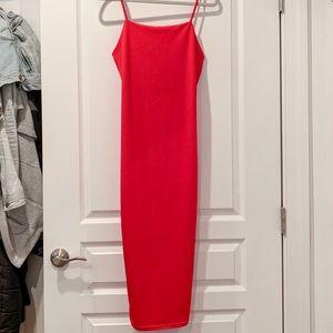 MWT. Pretty Little Thing Red Midi Dress